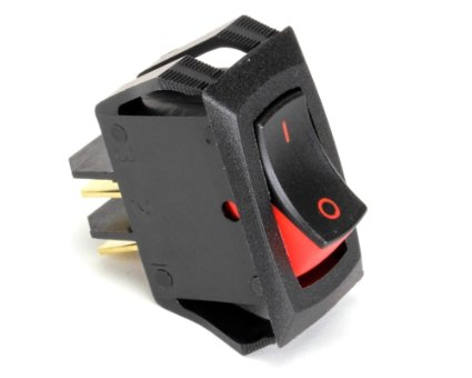 Delfield 2190154 Rocker Switch, 20A/125V,15A/250V